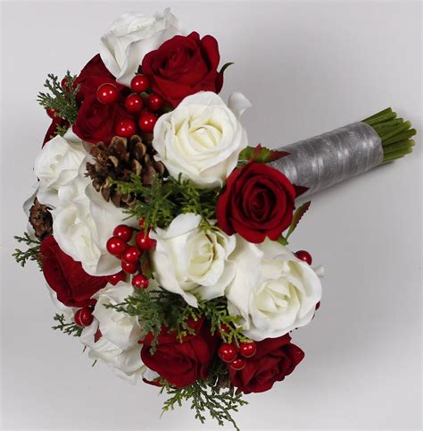 Christmas Wedding Bouquet Christmas Bridal Bouquet Red