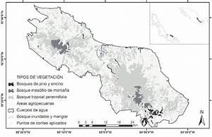 Mapa de la Reserva de la Biósfera Los Tuxtlas, Veracruz ...