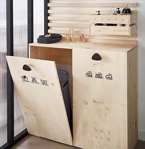 Diy Meuble Salle De Bain : diy cr er un meuble buanderie pour la salle de bains leroy merlin salle de bain en 2019 ~ Mglfilm.com Idées de Décoration