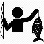 Fishing Icon Fisherman Hook Lake Activity Leisure