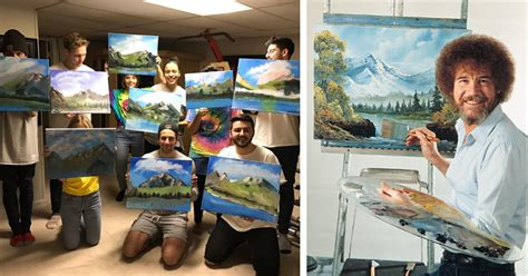 Bob Ross Painting Party Is A Unique Way To Celebrate A