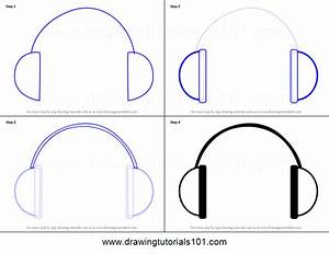 How to Draw Headphones Easy printable step by step drawing ...