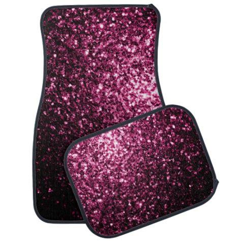 pink glitter car beautiful pink glitter sparkles car floor mat zazzle