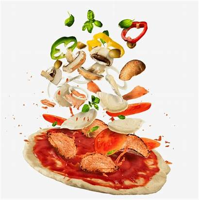 Pizza Ingredients Flying Learn Nicepng