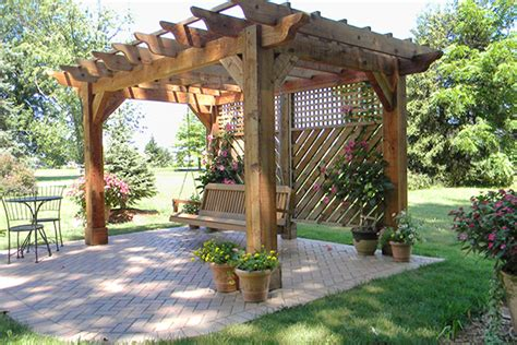 landscaping with pergolas pergola for swing garden design naples