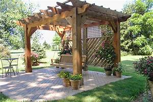 Pergola with Swing - Landscaping Outdoor Kitchens Outdoor