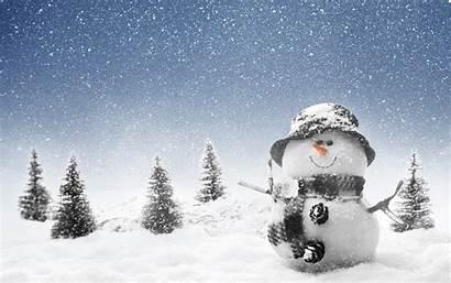 Winter Snowman January Snow Wonderland Background Christmas