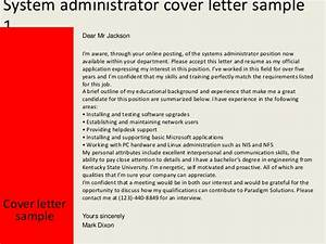 system administrator cover letter With sysadmin cover letter