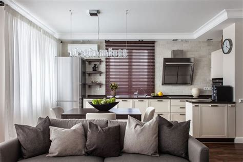 Functional And Relaxing Interior Design In Coffee, Creamy Above Kitchen Cabinets Decor Cabinet Doors Wholesale Stainless Steel India Showroom Discount Rta Natural Hickory Wall Colors With Maple Ideas For Decorating