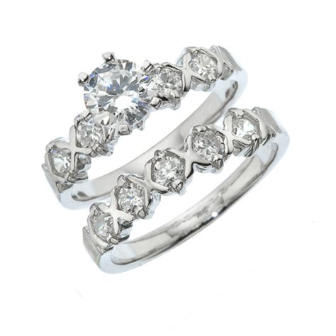 piece engagement  wedding ring set