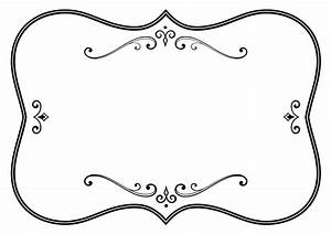 Decorative Black And White Flourish Frame Icons PNG - Free