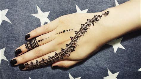 diy easy mehendi design  fingers tutorial  henna