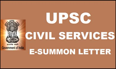 upsc civil services  summon letter released