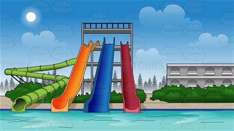 Water Park Slides Background