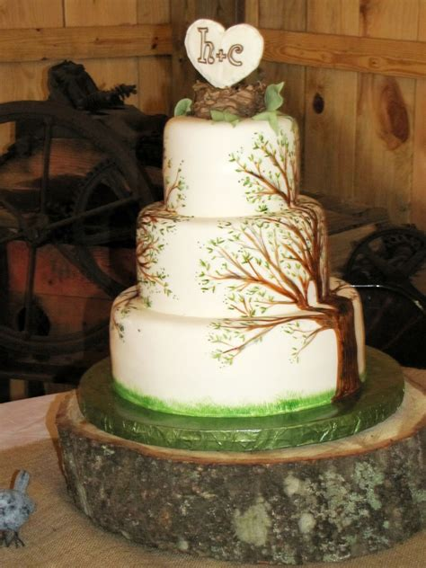 painted tree cake cakecentralcom