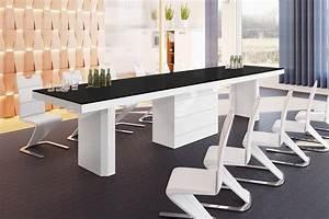 Esstisch Weiß Hochglanz 140 : design esstisch he 777 schwarz matt wei hochglanz kombination ausziehbar 140 188 236 ~ Eleganceandgraceweddings.com Haus und Dekorationen