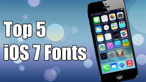 top 5 ios 7 fonts for iphone ipod touch ipad bytafont2 youtube