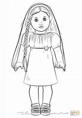 Coloring American Doll Pages Grace Template sketch template