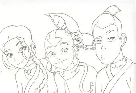 Katara Aang Momo Soka By Anime-no-jutsu On Deviantart