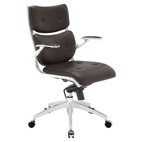 Push Mid Back Office Chair  Adjustable Height, Swivel