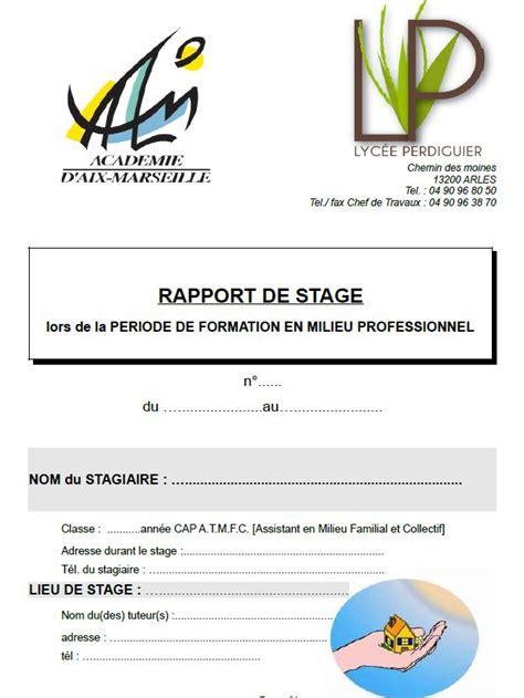 rapport de stage cuisine rapport de stage cuisine bac pro