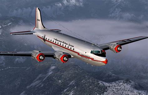 American Airlines Douglas DC-4 NC90423 for FS2004