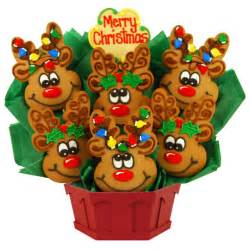 cookie bouquets christmas reindeer cookie bouquet cookies by design