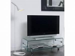 Meuble Pour Verre : meuble tv a roulettes en verre solutions pour la d coration int rieure de votre maison ~ Teatrodelosmanantiales.com Idées de Décoration
