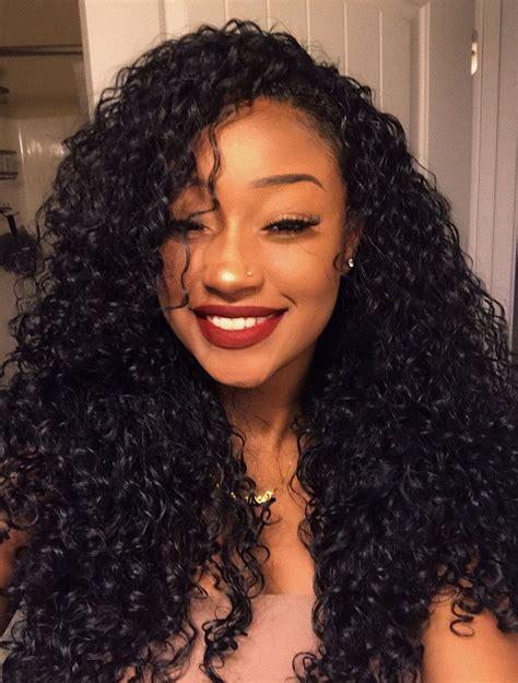 klaiyi hair virgin deep wave curly hair style