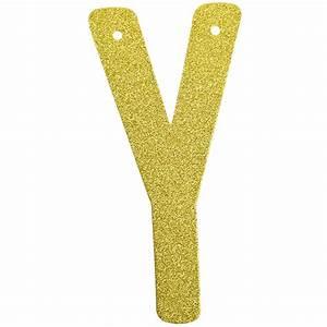 glitter letter banner garland 6inch gold letter y With gold letter garland