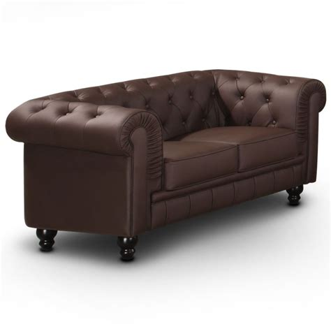 canapé 2 places chesterfield canapé 2 places chesterfield marron pas cher déco