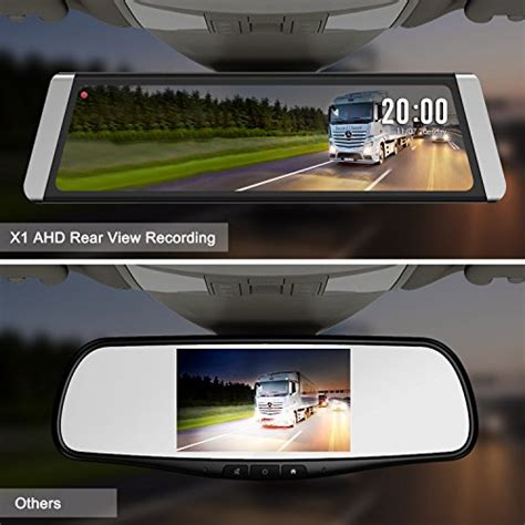 auto vox x2 auto vox x1 mirror dash backup 9 88 quot touch screen media dual lens ahd