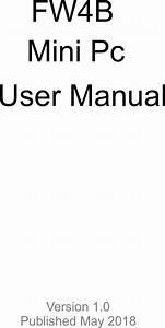 Fw4b User Manual User Manual
