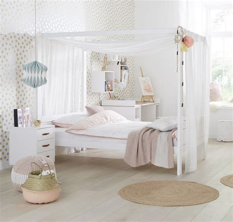 Four Poster Bed With Canopy 34 White For Children In Sa