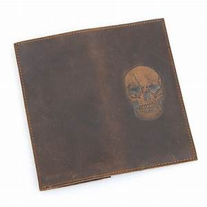Skull Pattern Leather Wallet Vintage Leather Long Wallet