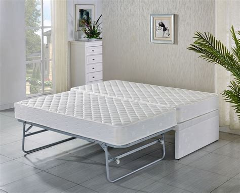 futon single mattress single bed base with trundle bed with 2 mattresses 5