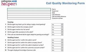cute call quality monitoring template photos resume With call monitoring template