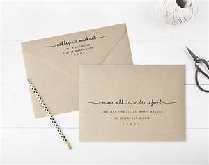 wedding invitation envelope template word yaseen for With wedding invitations envelope name