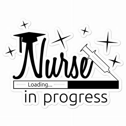 Nurse Progress Nursing Decal Student Sticker Decals