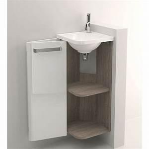 Lave Main Angle : pack meuble lave mains d 39 angle decotec jazz 1 porte ~ Melissatoandfro.com Idées de Décoration