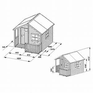 plan maisonnette bois chalet cabane enfant construire With plan maisonnette en bois gratuit