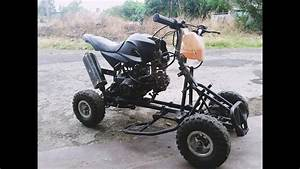 Mini Atv Quad Electric To Fuel Engine 70cc Swap