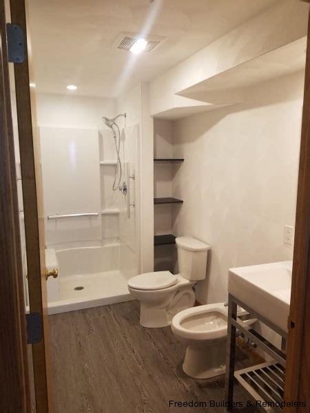 bidet  basement bathroom freedom builders remodelers