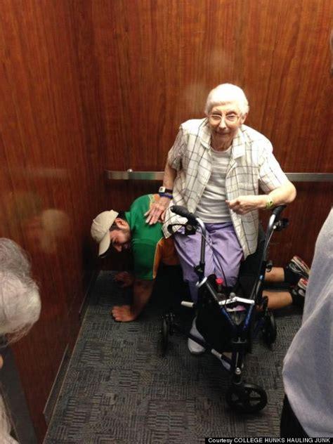 removal man cesar larios  unsteady elderly lady rita