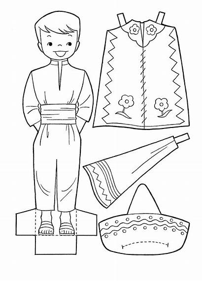 Mexico Coloring Pages Mayo Cinco Printable Paper