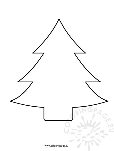 christmas tree patterns to cut out tree cutout coloring page