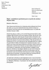 Lettre De Decharge Vente Automobile : lettre de motivation micromania vendeur de jeux vid o ~ Gottalentnigeria.com Avis de Voitures