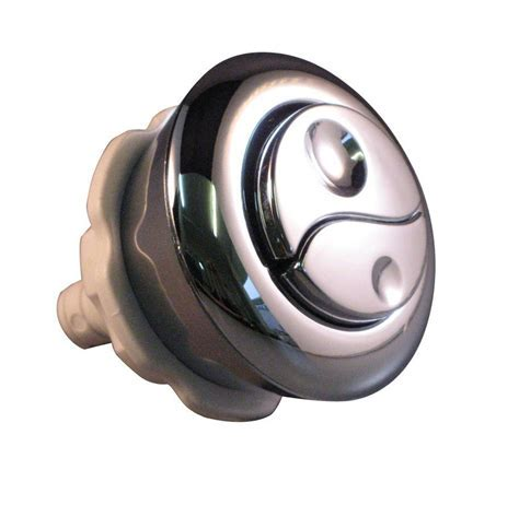 Opella & Diall Chrome effect Dual flush replacement button