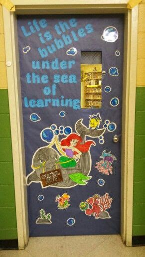 classroom disney theme door   mermaid