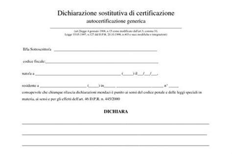Ufficio Di Collocamento Disoccupazione - modello per autocertificazione di disoccupazione lettera43
